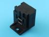 Колодка пластиковая F6.3x5, черная, держатель реле с монтажным ухом, 617605, Ф57