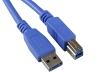 Кабель USB 3.0 Pro, AM/BM, 3м, экр., синий, Gembird/Cablexpert CCP-USB3-AMBM-10