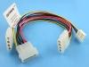 Удлинитель-разветвитель питания HDD->2HDD+FDD, Definum DF-HDD4M-2HDD4F-FDD4F-020
