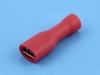 Кабельный наконечник ножевой мама, изолированный, 4.8х0.5мм, красный, F1-4.8VF/5