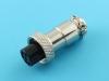 Розетка на кабель, M12-06FC, цилиндрическая, 6pin, прямая, резьба M12, под пайку