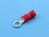 Кабельный наконечник кольцевой, изолированный, M4, 0.25-1.50мм2, КВТ НКИ 1.5-4