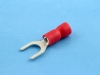 Кабельный наконечник вилочный, частично изолированный, M5, красный, КВТ НВИ 1.5-