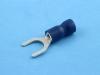 Кабельный наконечник вилочный, частично изолированный, M6, синий, КВТ НВИ 2.5-6