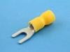 Кабельный наконечник вилочный, частично изолированный, M4, желтый, КВТ НВИ 6.0-4