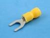 Кабельный наконечник вилочный, частично изолированный, M5, желтый, КВТ НВИ 6.0-5