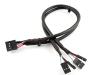 Кабель порта USB2.0 x 2, 30см, Definum DF-USB2-BC4-030-GY