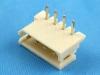 Вилка на плату WR-04R (MX), шаг 2.50мм, угловая, HSM W2630-04PRTW00R