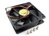 Вентилятор 92x92x25мм, 12V DC, 0.22A, шарикоподшипник, Gembird FANCASE2/BALL