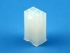 Корпус разъема MFB-2x03M, шаг 4.14x4.14мм, 5А, 300В, белый, HSM H1010-06PDAW00R