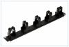 """Кабельный органайзер 19"""", 1U Kaidzen KN-19ORG1PBB 5 пластиковых колец, черный"""