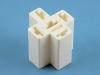 Колодка пластиковая F6.3x5, белая, держатель реле, 2121-3724061, Копир 457373901