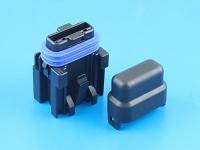 Комплект герметичного держателя предохранителя флажкового стандартного, 19мм, 1А, MTA FH-UNI-SP-1A