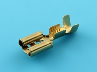 Клемма ножевая F6.3х0.80мм, 1.00-2.50мм2, под обжим,  с защелкой, HATKO 100204022