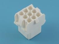 Колодка пластиковая MFL-3x03M, шаг 6.35мм, 3 ряда, белый, UMNL, TYCO 927231-3
