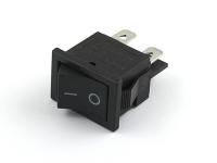 Выключатель 12.6х18.6мм, ON-OFF, I-O, чер/чер, 6А, 250В, Jinghan KCD1-104-A2K