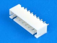Вилка на плату WK-08S, под пайку, шаг 2.50 мм, THT, прямая, 2.5А, 250В, белая, HSM W7600-08PSNTW0
