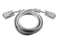 Кабель DVI-D Dual Link 25M/25M, 3м, серый, экран, позол., ферриты, гибкий, Belsis BW1471