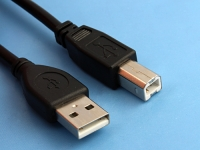 Кабель USB 2.0 Pro, AM/BM, 4.5м, экр., феррит, черный, Gembird/Cablexpert CCF-USB2-AMBM-15