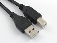Кабель USB 2.0 Pro, AM/BM, 1.8м, экран, феррит, черный, Gembird/Cablexpert CCF-USB2-AMBM-6