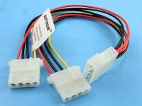 Удлинитель-разветвитель питания PATA HDD->2HDD, 0.50мм2, 20/20см, Definum DF-HDD4M-2HDD4F-020