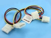 Удлинитель-разветвитель питания PATA HDD->2HDD+HDD, 0.50мм2, 20/20/20см, Definum DF-HDD4M-3HDD4F-020