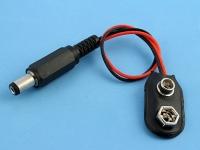 Переходник питания для подключения батарейки Крона 9V -> DJK-11A, 12см, Definum DF-DJK-BAH