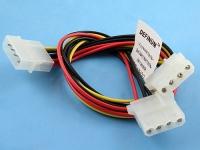 Удлинитель-разветвитель питания HDD->2HDD, 0.75мм2, 30см, Definum DF-HDD4M-2HDD4F-075-030