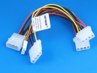 Удлинитель-разветвитель питания HDD->HDD-HDD + HDD-FDD, 20/20/20/20см, Definum DF-HDD4M-3HDD4F-FDD4F-020