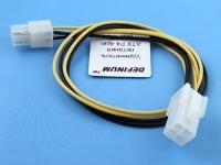 Удлинитель питания P4M - P4F, 0.50мм2, 30см, Definum DF-P4M-P4F-030