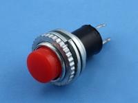 Кнопка DS-314 OFF-(ON), 250В, 0.5А, без фиксации, гайка сверху, красная