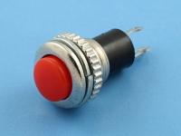 Кнопка DS-316 OFF-(ON), 250В, 0.5А, без фиксации, гайка снизу, красная