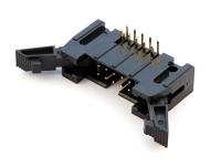 Вилка на плату SCM-10R (IDCC-10MR) шаг 2.54мм х 2.54мм, угловая, с фиксацией, Connfly DS1011-10RBSIB7