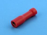 """Кабельный наконечник ножевой """"мама"""", изолированный, 2.8x0.5мм, красный, Jeesoon F1-2.8VF/5"""
