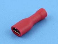 """Кабельный наконечник ножевой """"мама"""", изолированный, 4.8х0.5мм, красный, Jeesoon F1-4.8VF/5"""