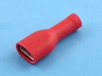 """Кабельный наконечник ножевой """"мама"""", изолированный, 7.0х0.8мм, красный, КВТ РППИ-М 1.5-(6.3)"""