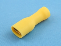 """Кабельный наконечник ножевой """"мама"""", изолированный, 7.0х0.8мм, желтый, КВТ РППИ-М 6.0-7-0.8"""