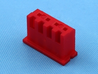 Корпус разъема HK-04 (XHP-04/CHU-04), шаг 2.50мм, красный, HSM H7000-04PR0000