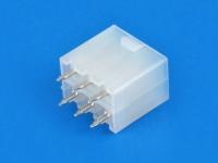 Вилка на плату MF-2x03S Mini-Fit, шаг 4.20мм, прямой, под пайку, без ушей, HSM W4505-06PDSBTWR