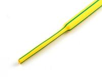 Трубка термоусадочная 3.00 / 1.50 мм, с подавлением горения, желто-зеленая, Rexant 20-3007 (цена за 1 метр)