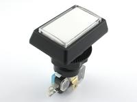 Переключатель кнопочный, прямоугольный, 51.1x33.8мм, белый, без фиксации, с подсветкой, S960-4