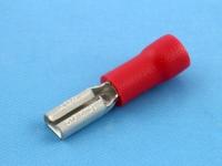"""Клемма ножевая, частично изолированная, """"мама"""", 2.8х0.8мм, 0.50-1.50мм2, под обжим, красная, КВТ РПИ-М 1.5-3-0.8"""