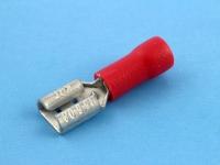 """Клемма ножевая, частично изолированная, """"мама"""", 4.8х0.8мм, 0.50-1.50мм2, под обжим, красная, КВТ РПИ-М 1.5-5-0.8"""