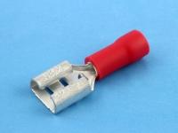 """Клемма ножевая, частично изолированная, """"мама"""", 6.3х0.8мм, 0.50-1.50мм2, под обжим, красная, КВТ РПИ-М 1.5-7-0.8"""