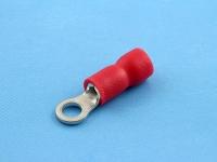 Кабельный наконечник кольцевой, изолированный, M3, 0.50-1.50мм2, красный, 690В, 19А, КВТ НКИ 1.5-3