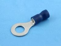 Кабельный наконечник кольцевой, изолированный, M6, 1.50-2.50мм2, 27А, 690В, синий, КВТ НКИ 2.5-6
