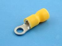 Кабельный наконечник кольцевой, частично изолированный, M4, желтый, КВТ НКИ 6.0-4
