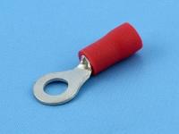 Кабельный наконечник кольцевой, изолированный, M4, 0.50-1.50мм2, красный, Jeesoon R1-4LV