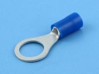 Кабельный наконечник кольцевой, изолированный, M8, 1.50-2.50мм2, синий, Jeesoon R2-8V