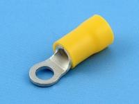 Кабельный наконечник кольцевой, изолированный, M4, 4.00-6.00мм2, желтый, Jeesoon R5-4SV